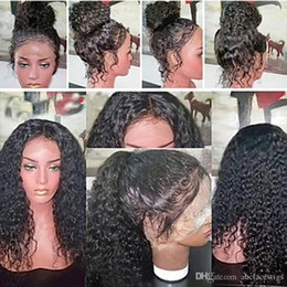 $enCountryForm.capitalKeyWord NZ - Women's Human Hair Lace Wig Brazilian Natural Hairline Lace Front 150% Density Layered Haircut Curly With Baby Hair Wig Natural Black