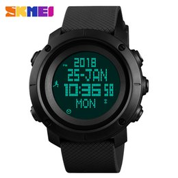 Men Digital Wrist Watches Australia - SKMEI Pedometer Sport Watch Men's Digital Watches Fashion Compass Metronome Outdoor Man Wrist Watch Top Clock erkek kol saati