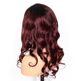 Banks Hair UK - 1b#99J Glueless Full Lace Human Wigs with Baby Hair Pre Plucked Natural Wave Brazilian Remy Hair Ombre Color Lace Front Human Hair Wigs