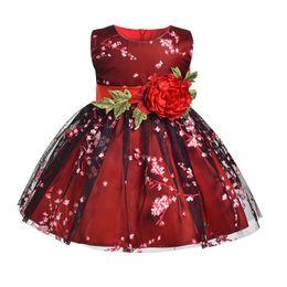 $enCountryForm.capitalKeyWord UK - Vieeoease Girls Dress Christmas Flower Kids Clothing 2018 Autumn Fashion Sleeveless Vest Lace Tutu Princess Party Dress EE-1254