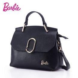 04d362f90bdb Barbie 2018 Women s shoulder Bag Leather simple style black ladies handbag  female fashion Cross body Bags for women