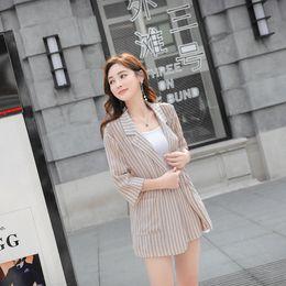 $enCountryForm.capitalKeyWord Canada - 2018 Korean Version Summer Thin Lace Waist Shorts Fashion Girl Strip Short Pant Office Lady Suit