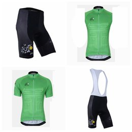 Vest Team Cycling Canada - TOUR DE FRANCE team Cycling Short Sleeves jersey (bib) shorts Sleeveless Vest sets Summer men's quick-drying outdoors clothing Q50708