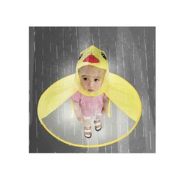 $enCountryForm.capitalKeyWord UK - 1pc PVC Child Yellow Duck Funny Rain Cap Umbrella Child Kid Adult Folding Umbrella Fishing Raincoat Cloak
