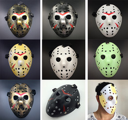 Full Face Hockey Mask Australia - Halloween Jason Mask Full Face Antique Killer Mask 13th Prop Horror Hockey Costume Cosplay Masquerade Prop masks Festival Party Supplies