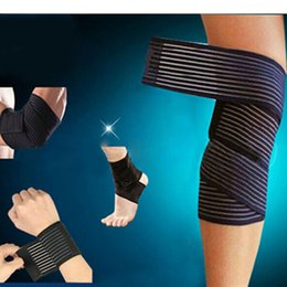 $enCountryForm.capitalKeyWord UK - New Knee Elbow Wrist Ankle Bondage Cuff Support Wrap Sport Bandage Compression Strap Belt Fitness Gym Brace Tape Elastic Band