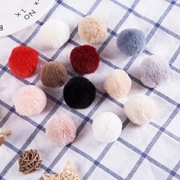 Wholesale DIY cm Faux Bunny Fur Pom Pom Ball for Women Earrings Shoes Handbag Keychain Hat Phone Accessories Pompom