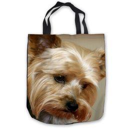 $enCountryForm.capitalKeyWord Canada - Custom CanvasYorkshire Terrier Tote Shoulder Shopping Bag Casual Beach HandBag Daily Use Foldable Canvas #180713-1-22