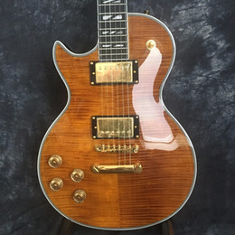 Brand guitars china online shopping - Manufacturer sales Tiger stripes Electric Guitar Brand Left Hand Electric Guitars Guitars in China guitarra
