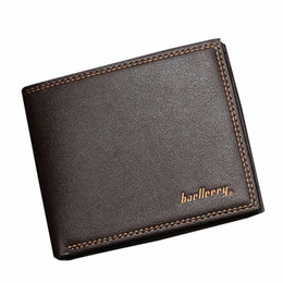 Chinese  Fashion Mens Wallet Simple PU Leather Solid ID Card Holder No Zipper Billfold Purse Card Holders Handbag clutch female manufacturers