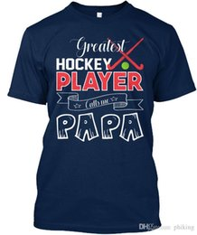 Chinese  Greatest Hockey Player Papas Standard Unisex T-Shirt (S-3XL) Tees Shirt Men Male Cool Short Sleeve Fashion Custom Big Size Couple T Shirts manufacturers