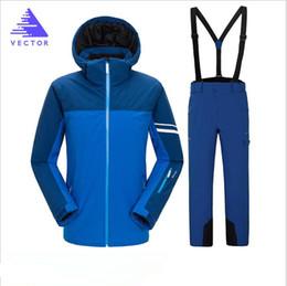 Warm Waterproof Pants Men Australia - VECTOR Brand Men Jacket Pant Skiing Snowboard Suit Super Warm Hooded Winter Clothing Windproof Waterproof Sport Wear Male Suit