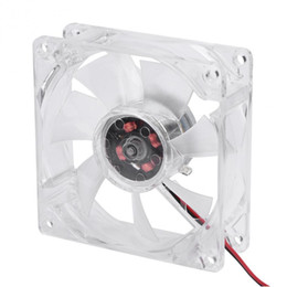 8cm 12v fan UK - VBESTLIFE 8025 LED Light Fan 80mm 8cm 12V 4Pin Mute PC Case Cooling Fan Computer Cooler