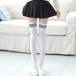 $enCountryForm.capitalKeyWord NZ - Sexy Medias Fashion Striped Knee Socks Women Cotton Thigh High Over The Knee Stockings for Ladies Girls 2017 Warm Long Stocking