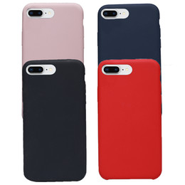 luxury microfiber 2019 - Liquid Silicone Cell Phone Case For iPhone 6 7 8 Plus Cover Microfiber Cushion Fashion Luxury Phone Protective Case chea