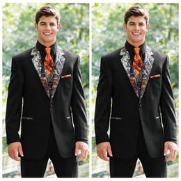 2018 Vogue Realtree Camo Wedding Tuxedos Farm Black Camouflage Suit Custom Slim Fit Mens Blazers Groom WearJacket Pant Vest