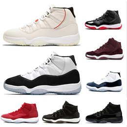 Discount basketball shoes Platinum Tint 378037-100 Concord 45 prom night XI 11s 11 Cap and Gown Men women Basketball Shoes bred space jam Mens Sports sneakers