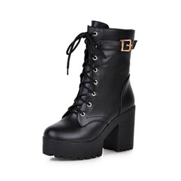 $enCountryForm.capitalKeyWord UK - High-heeled leather women Autumn winter Platform boots woman ankle boots for women high-quality Thick Sole snow boots