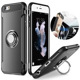 De alta qualidade tpu pc titular do anel de metal case para iphone 7 8 plus x 5 5s se 6 6 s além de luxo à prova de choque combinação case capa do telefone para samsung ga