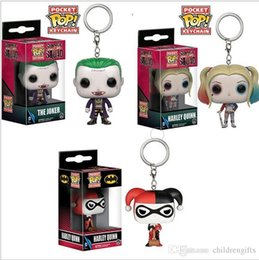 $enCountryForm.capitalKeyWord Australia - Wholesale price Funko Pocket POP Keychain - The Joker Suicide Squad Vinyl Figure Keyring with Box Toy Gift Good Quality
