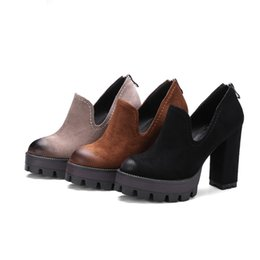 1f31ec4a5e2b4 capitalKeyWord Canada - Retro Punk Rock Gothic Single Pumps Women Fashion  Thick Platform