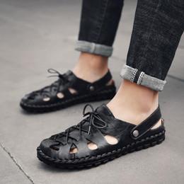 $enCountryForm.capitalKeyWord Canada - Brand 525 designer sandals Men's Genuine Leather Beach Shoes Classic Toe Cap Cover Handmade Cow Leather Mens Sandals WIDE Plus Size 38-