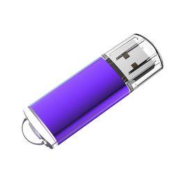 Usb Pen Gb Australia - Purple 64GB USB 2.0 Flash Drives High Speed Rectangle Memory Sticks 64gb Thumb Pen Storage for PC Laptop Macbook Tablet Flash Pen Drive