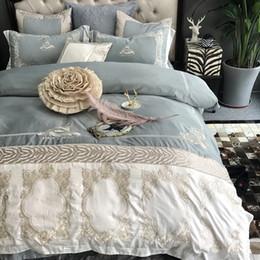 $enCountryForm.capitalKeyWord Australia - Svetanya Embroidery Bedding Set 1000TC Cotton Bedlinen Queen King Size Luxury Duvet Cover bedsheet Pillowcases Sets