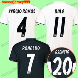 920966b964c Top thailand AAA cheap 2018 2019 Real Madrid Soccer Jerseys 18 19 Football  Shirts RONALDO home Blue white Camisetas uniforms ISCO Bale