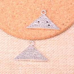 pyramid silver NZ - 29pcs Antique silver Egypt pyramid Charms Pendant Fit Bracelets Necklace DIY Metal Jewelry Making 20*32mm