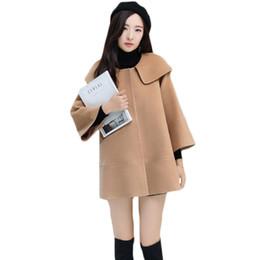 1b37948729424 Camel Winter Coats Women UK - Women Autumn Winter Wool Cloak Basic Tops  Camel Color Three