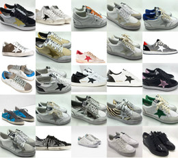 d84302600bf Italy Brand Sliver Flash Leather Gold heel Do the old Dirty Basketball  Shoes Goose Mens Women Golden GGDB Super Stars Ulzzang Sneakers