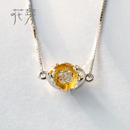 $enCountryForm.capitalKeyWord Australia - Thaya Gold Cocoon-Break Pendant Necklaces 925 Silver Pure Zircon Diamond Box Chain Link Necklace Women Elegant Jewelry '39+4cm' Y18102910