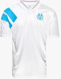 Maillot de pie om retro viejo Marsella 1992 1993 jerseys 25 año Olympique de Marseille camisetas euro tamaño s a xxl 92 93 en venta