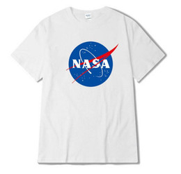 Chinese  2018 Fashion Brand National Aeronautics and Space Administration NASA space science fiction printing Graffiti shirt yeezus t shirt Free sh manufacturers