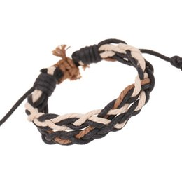 Chinese  Student Rope Knots Weave Bracelets Retro Style Two PCS Combination Free Size Lovers Bracelet Good Gifts DC92 manufacturers