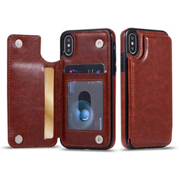 Chinese  For iPhone X S9 8Plus Wallet Case Luxury PU Leather Cell Phone Back Case Cover with Credit Card Slots manufacturers