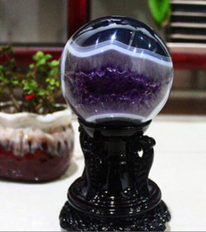 China Ball Lighting Australia - +Authentic Uruguay stone Amethyst ball ornaments small Amethyst natural agate stone ornaments smile