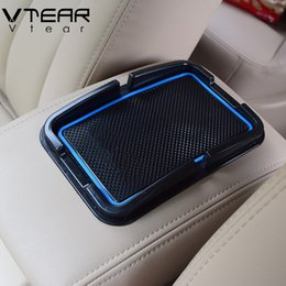 anti slip pad for car dashboard 2018 - Vtear For VAUXHALL Mokka mat interior dashboard Anti-Slip pad GPS Holder gate slot pad car-styling decoration Accessorie
