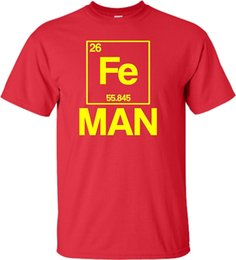 $enCountryForm.capitalKeyWord Canada - Adult Iron Periodic Table Man Funny Chemistry Science Funny Printing T Shirts Men Short Sleeve T-shirts