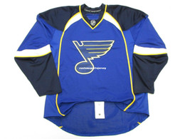 04eae4f9155 Cheap custom ST. LOUIS BLUES HOME EDGE 1.0 7187 HOCKEY JERSEY stitch add any  number any name Mens Hockey Jersey XS-5XL