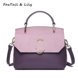 331280a80af6 FoxTail   Lily Genuine Leather Patchwork Bags Ladies Luxury Handbags Real  Soft Leather Small Shoulder Bag Women Messenger Bags