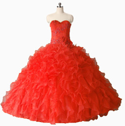 quinceanera dresses UK - 2017 Fashion Crystal Flower Ball Gown Quinceanera Dress with Appliques Organza Plus Size Sweet 16 Dress Vestido Debutante Gowns BQ115