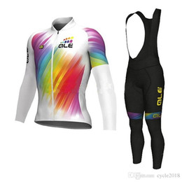 Pro team ALE Colorful cycling jersey 2017 Full zipper MTB bicycle clothing  ropa ciclismo long sleeve bike shirt bib pants set size XS-4XL 491529258