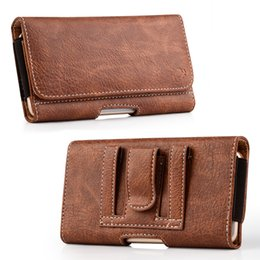 Leather beLt Loop cases online shopping - For Phone Wallet PU Leather Case with Card Slot Clip Magnetic Closure with Belt Loops for iPHone X Samsung Note