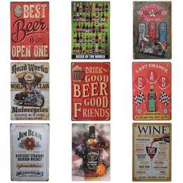 Пить пиво ретро дизайн олова плакат популярные уникальные банки знак для бара КТВ повесить практическая атмосфера железа живопись высокого класса 20*30 см ZZ
