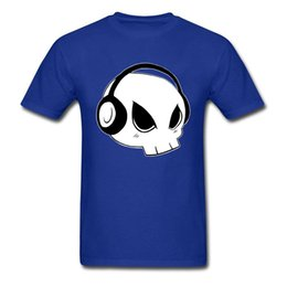 Cute Dj Skull 2018 Men T Shirts Blue T Shirt Music Lover Hip Hop Funny  Cartoon Print Tops O Neck Cotton T Shirt 9bb066a56f52