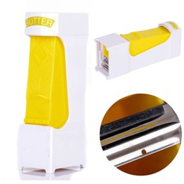 butter tool NZ - 1pcs One Click Butter Cheese Cutter Slices Slicer Squeeze Serves Stores Kitchen Tool New Cheese Tools