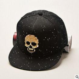 HATGUD TYLZT Pure Cotton Skull Sign Rivet Hip Hop Adult Baseball Caps  Fashion Flat Sunshade Hats Leisure Men Women Sports Hats 0d9a64450341