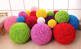 $enCountryForm.capitalKeyWord NZ - Rose balls 6~24 Inch(15~60CM) Wedding silk Pomander Kissing Ball decorate flower artificial flower for wedding garden market decoration